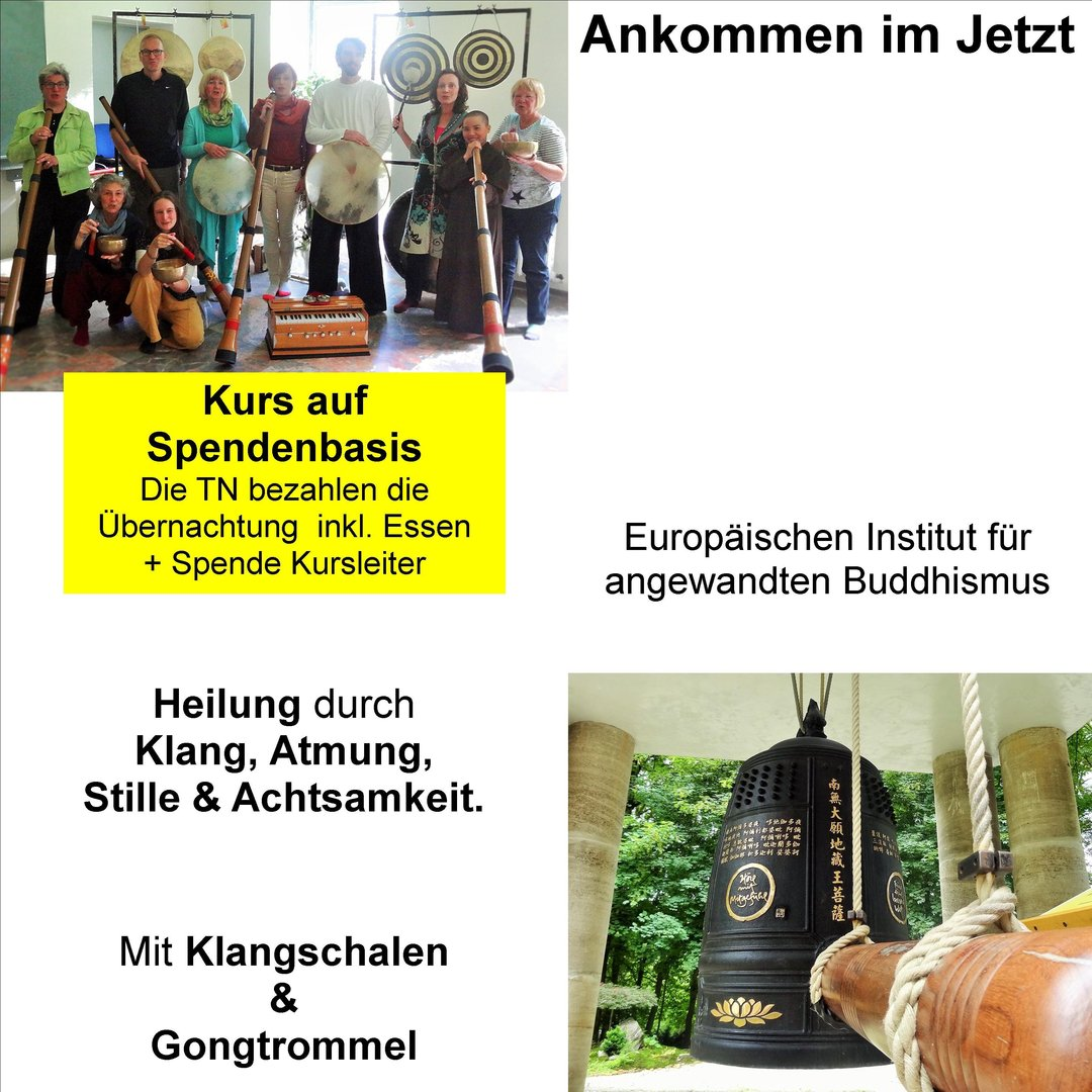 Fr 30.11 - So 02.12.18 Gongs Trommel Retreat im EIAB